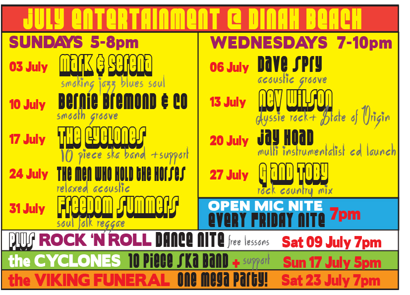 july entertainment